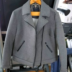 Yessica scuba fabric moto style jacket NWT